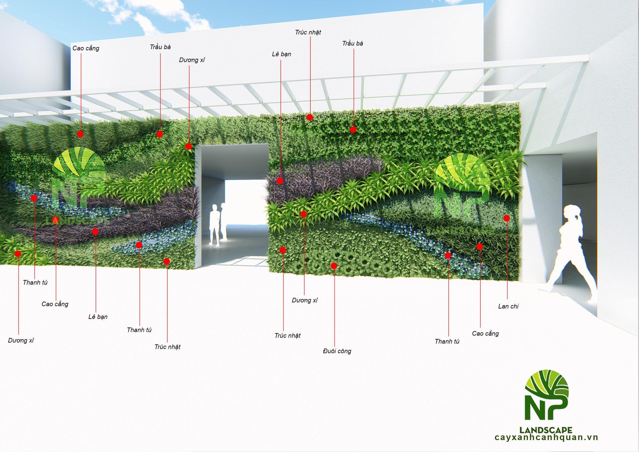 Thiết kế tường cây xanh - 0935.351.677